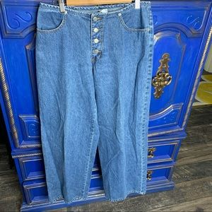 Vintage Wide Leg Button Fly Jeans Billy Blues 13